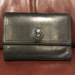 Coach Black Trifold Leather Wallet